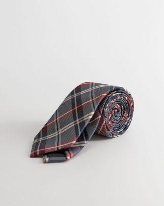 MANGO - Cravate Check2 - Vert