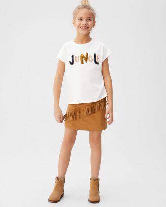 MANGO - T-Shirt Jungle - Offwhite