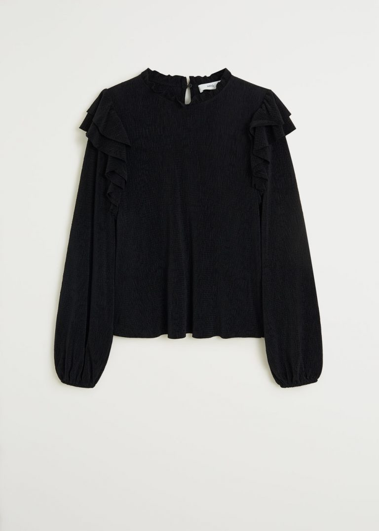MANGO - T-Shirt Roman - Noir