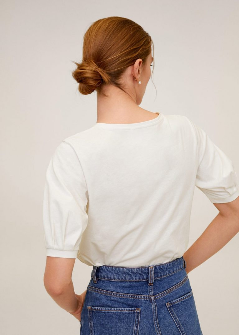 MANGO - T-Shirt Vicky6 - Blanc