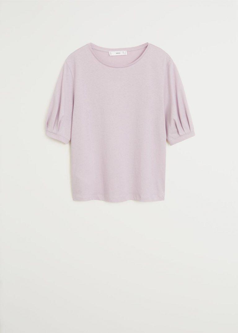 MANGO - T-Shirt Vicky6 - Mauve