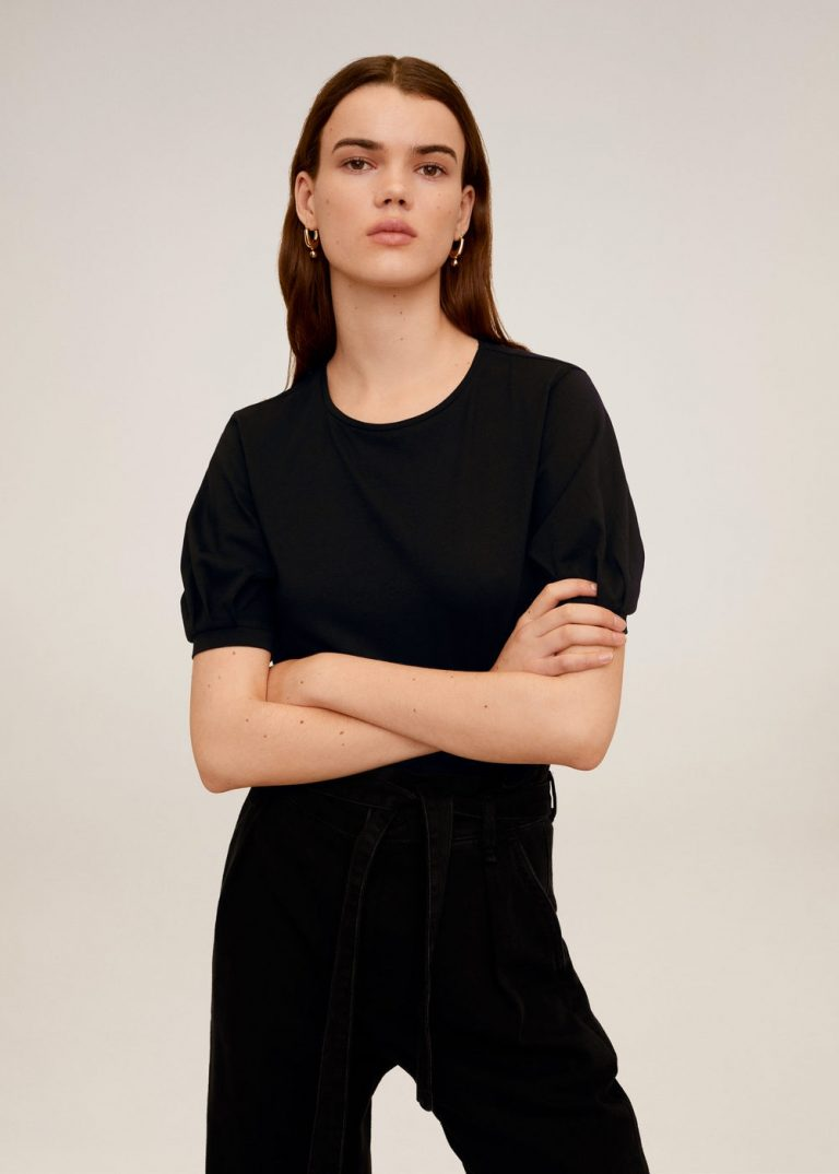 MANGO - T-Shirt Vicky6 - Noir