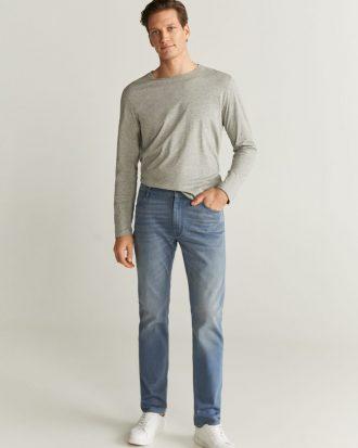 MANGO - Jeans Patrick6 - Jeans Bleu Moyen