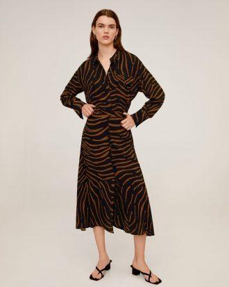 MANGO - Jupe Tiger - Noir