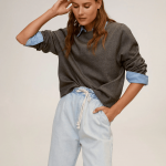 MANGO - Jeans Loose - Bleu