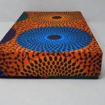 BYSLY - Boite De Rangement Moyen Format - Orange Bleu