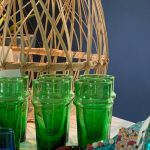 BYSLY - Lot De 6 Verres - Vert