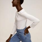 MANGO - T-Shirt SACO7 - Blanc