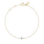 A.CONSTANT - Bracelet or jaune 18 carats et diamants