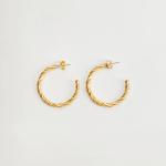 MANGO - Boucle d'oreilles ROSA - Or