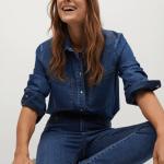 MANGO - Jeans Elsa - Bleu
