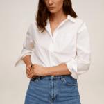 MANGO - Jeans  Newmom - Bleu