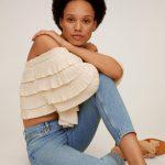 MANGO - Jeans  Newmom - Bleu Clair