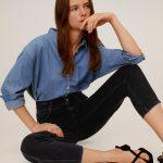 MANGO - Jeans Slouchy - Noir