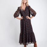 MAISON 123 - Robe Claire Bi Imprimee - Noir