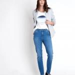 MAISON 123 - Jean Sonia 2 Straight Denim Eco - Bleu
