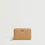 MANGO - Portefeuille Pillow - Beige