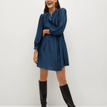 MANGO - Robe Albani - Bleu