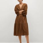 MANGO - Robe Carmina - Marron