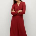 MANGO - Robe Maria - Bordeau