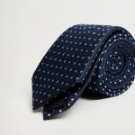 MANGO - Cravate Dots - Marine
