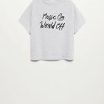 MANGO - T-Shirt  World - Gris