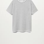 MANGO - T-Shirt  Esteban - Gris