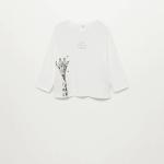 MANGO - T-Shirt  Safari - Blanc