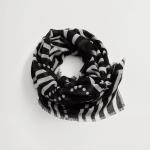 MANGO - Foulard Duna - Noir/Blanc