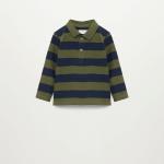 MANGO - T-Shirt Rayas - Bleu