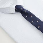 MANGO - Cravate Beagles - Bleu