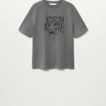 MANGO - T-Shirt  Simba - Gris
