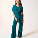 ETAM – Pantalon détail noeud – Vert