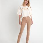 MAISON 123 - L'iconique slim jean en coton - Beige