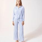 ETAM - Pantalon de pyjama rayé - Bleu Ciel
