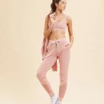ETAM - Pantalon de sport détails en tulle - Rose