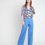 MAISON 123 - Jean wide leg en coton biologique Anastasia - Bleu