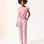 ETAM - Pantalon de pyjama rayé - Rose