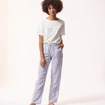 ETAM - Pantalon de pyjama rayé - Violet