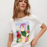 MANGO - T-Shirt  Pswoman1 - Blanc