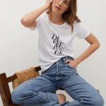 MANGO - T-Shirt  Pstdif - Blanc