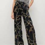 MANGO - Pantalon  Chain - Noir