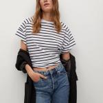 MANGO - T-Shirt Miley - Blanc/Noir