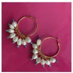 SUNSHINE LEVANT - Earrings pearls eyes pink vishnu