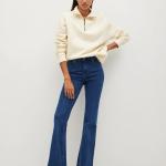 MANGO - Jeans Flare - Bleu