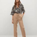 MANGO - Pantalon Linen - Beige