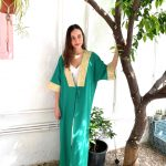 KAFTANS - kimono Vert / Dorée Dalia - Vert