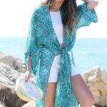 KAFTANS -  kimono Kim - Bleu