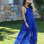 KAFTANS -  Robe de plage, summer outift Sarah - Bleu