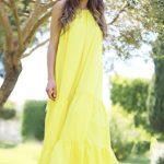 KAFTAN - Flowy Robe Sarah - Jaune